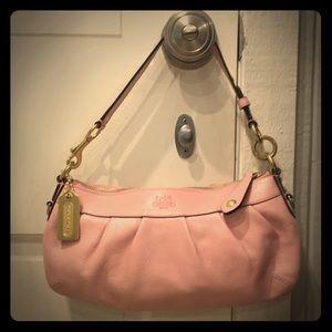 Coach pink pebbled leather shoulder bag